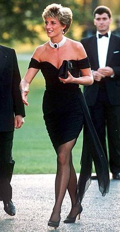 Princess Di donned this infamous LBD, designed by Christina Stambolian, the same time a documentary aired documenting her husband's infidelities.