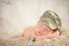 Camouflage Infant Hat ABU Air Force Camo by AmeliesBootieShop