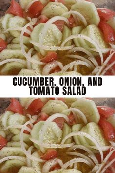 One of my favorite Recipes! Serve this colorful chopped tomato, onion, and cucumber salad with or over anything. With tomatoes, onion, cucumber, parsley, and a simple vinaigrette, the salad is crunchy, ultra-flavorful and is vegetarian. Jump to the Chopped Tomato, Onion, and Cucumber Salad Recipe or read on to see our tips for making it. #salad #recipe Tomato Salad, Cucumber Salad, My Favorite Food, Favorite Recipes, Cracked Pepper, Summer Salads, Vinaigrette, Salad Recipes, Onion