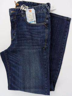 NWT Tommy Bahama Mens 36X32 Walker 2 Jeans Vtg Straight Fit Dark Storm Wash NEW #TommyBahama #ClassicStraightLeg