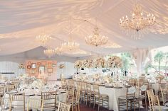 Magical Wedding setting. adore the stunning #chandeliers