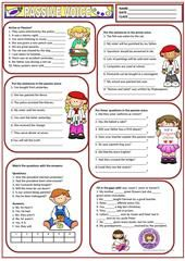 Passive Voice Exercise (Simple Present and Past Passive) worksheet - Free ESL printable worksheets made by teachers