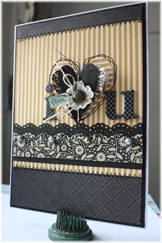 card by Shellye McDaniel...simple, but love the layers....