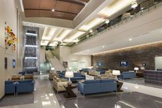 PHOTO TOUR: Forest Park Medical Center San Antonio | Healthcare Design --- The hospital features an expansive two-story lobby with a dramatic full-height fountain. Photo: Erika Edwards/BOKA Powell