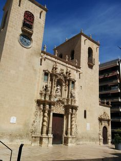 Iglesia de Santa Maria , antigua mezquita. Alicante, Spain