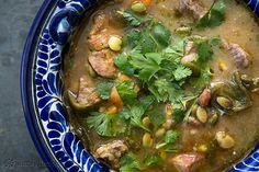 Pork and Poblano Stew Recipe on SimplyRecipes.com