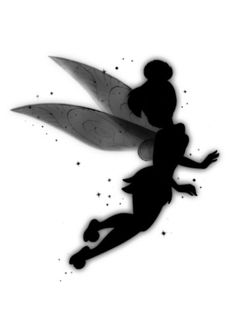 Tinkerbell silhouette Tinkerbell And Friends, Peter Pan And Tinkerbell, Tinkerbell Fairies, Tattoo Tinkerbell, Arte Disney, Disney Magic, Disney Art, Fairy Dust, Fairy Tales