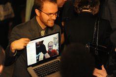 Photo of Greg Knaddison and Kevin Bridges on Skype
