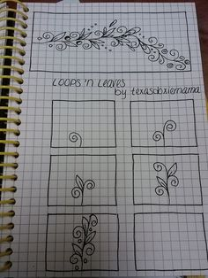 Freehand doodle patterns. Lots of good ones here: