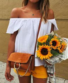 white + sunflower yellow