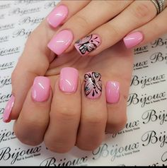 Bijoux Edenvale  Hand painted butterfly with Gelit Best Nail Salon in Johannesburg