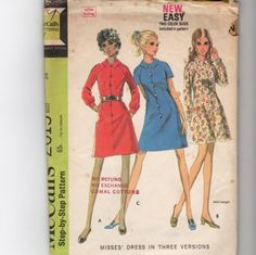 Vintage Misses  Dress Pattern 2015 by NewAgain on Etsy, $3.00