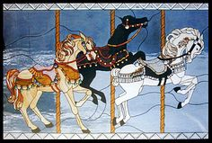 Carousel Horses Stained Glass