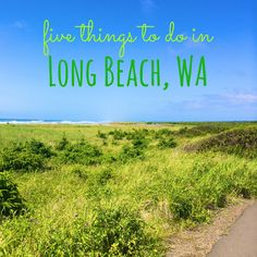 Things to do in Long Beach, Washington near Olympic National Park and the Columbia River. Washington coast