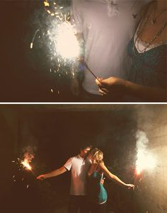 Love the night time sparklers