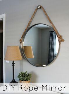 Wonderfully Made: DIY Rope Mirror