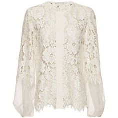 Alexis Sue Organza Lace Blouse