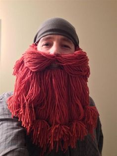 Picture of The Yarn Beard. Since you can't grow your own at work :-p