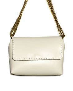 """""""Echo"""" Vanilla leather bag Calf Leather, Leather Shoulder Bag, Leather Bag, Animation Types, Leather Interior, Italian Leather, Hand Stitching, Colorful Backgrounds, 9 Video"""