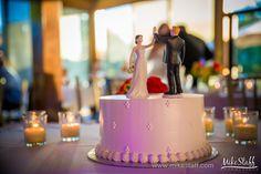 Single-tier wedding cake with bride and groom figurines #wedding #cake #Michiganwedding #Chicagowedding #MikeStaffProductions #wedding #reception #weddingphotography #weddingdj #weddingvideography #wedding #photos #wedding #pictures #ideas #planning #DJ #photography
