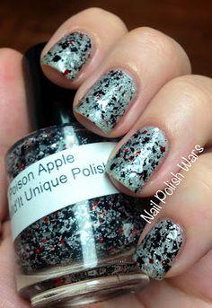 PoiSin Apple: Nail Polish Custom blended Glitter Lacquer (matte). $8.50, via Etsy.