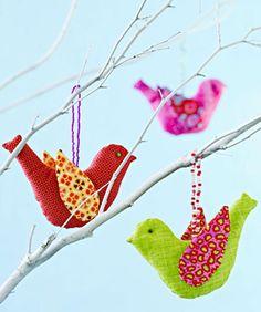 Wild bird ornaments