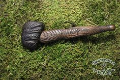 Smoking pipe Thunderstorm made of wenge and walnut