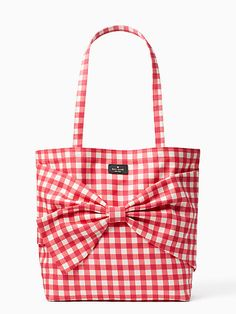 Kate Spade on purpose Canvas Tote, Pink Gingham