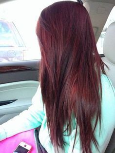 Long Straight Red Hairstyle