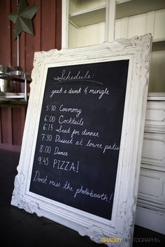 Chalkboards of course!
