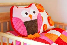 How to make an owl cushion (including template and full instructions) :-)