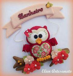 Bear Felt, Felt Owls, Felt Birds, Love Craft, Craft Work, Felt Crafts Patterns, Felt Banner, Felt Wreath, Felt Mobile