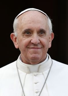 Pope  Francis smiles as he greets crowd after praying rosary at Basilica of St. Mary Major in Rome