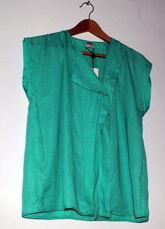 Kup mój przedmiot na #vintedpl http://www.vinted.pl/damska-odziez/bluzki-z-krotkimi-rekawami/8024248-moze-mietowke-vero-moda-elegancka-mietowa-bluzka-z-plisa-z-przodu-rozm-m-oversize
