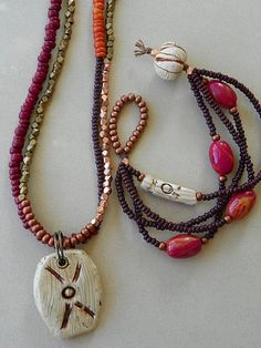 Seeds beads and tribal beads