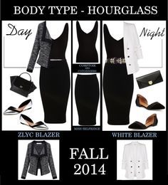 Day to Night - Hourglass Body Type  Hourglass Figure Styling Tips: - Make sure to pick pieces that fit, but are not overly tight. Close fitting clothes highlight a hourglass figure. - Baggy or shapeless clothing are a huge no-no! http://toyastales.blogspot.com/2014/10/day-to-night-hourglass-body-type.html