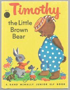 Vintage-Childrens-Junior-Elf-Book-TIMOTHY-The-Little-Brown-Bear