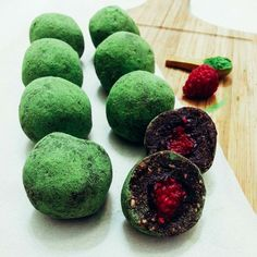 Vegan Recipe: Matcha Raspberry Energy Balls