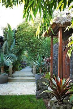 Beautiful garden and a walkway design.