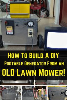 Build A DIY Generator From A Lawnmower (Total Project Cost $40!) https://knowledgeweighsnothing.com/build-a-diy-generator-from-a-lawnmower-total-project-cost-40/