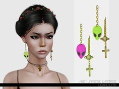 Alien Universe Earrings by Leah Lillith - Sims 3 Downloads CC Caboodle