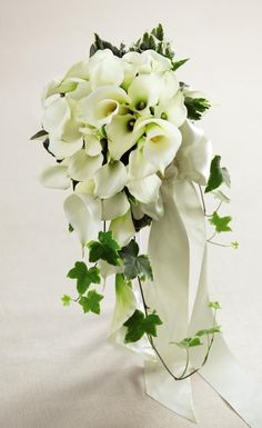 50 Wonderful White Calla Lily Bouquet