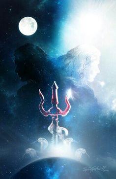 Mahabharatham - The Great Indian Epic. Mahakal Shiva, Shiva Art, Hindu Art, Meditation France, Trishul, Shiva Tattoo, Lord Shiva Hd Wallpaper, Lord Shiva Family, Lord Shiva Painting
