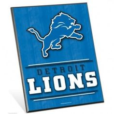 "Detroit Lions 8""x 10"" Wood Easel Sign"