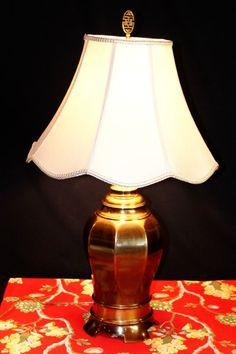 Vintage Brass Ginger Jar Urn Lamp Regency by RescuedTreasureShop