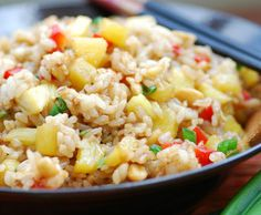 Pineapple Fried Rice Recipe. Might add some diced ham or crispy bacon.