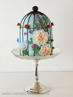 Delicate Birdcage Cake craftsy.com/  cake decorating ideas