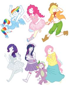 My Little Pony: Friendship is Magic As Humans