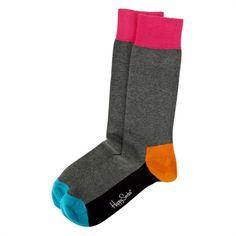 Happy Socks Men's Contemporary Color Block Crew Sock #VonMaur #HappySocks #Multicolor
