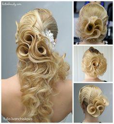 Hair Roses by Yulia Ivanchikova of Russia. #hotonbeauty fb.com/hotbeautymagazine